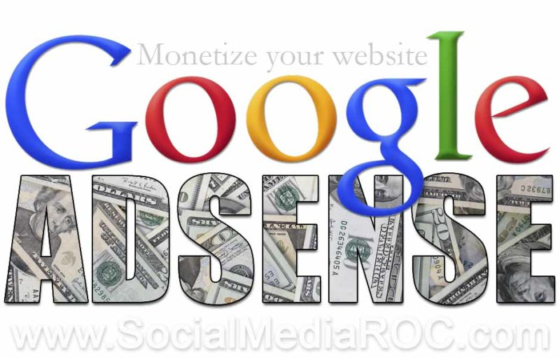 Website monetization with Google Adsense